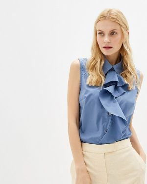 Блузка без рукавов синяя весенний Gepur