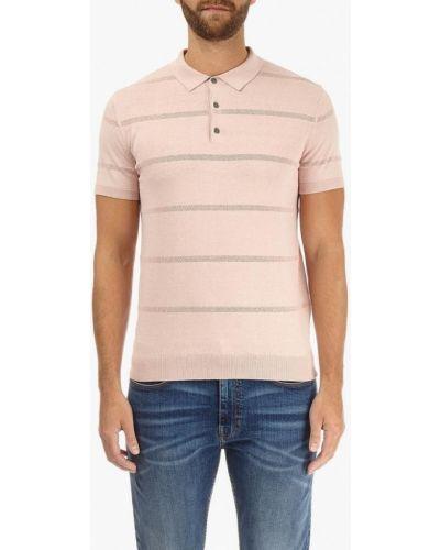 Розовое поло с коротким рукавом Burton Menswear London