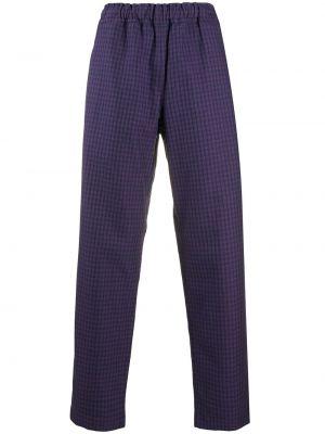 Прямые брюки в клетку с карманами Paccbet