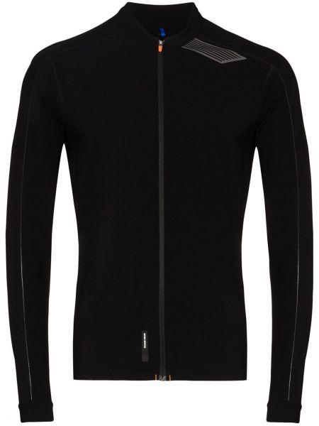 Спортивная черная спортивная куртка на молнии круглая Soar