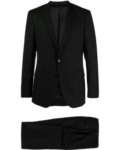 Garnitur wełniany - czarny Boss