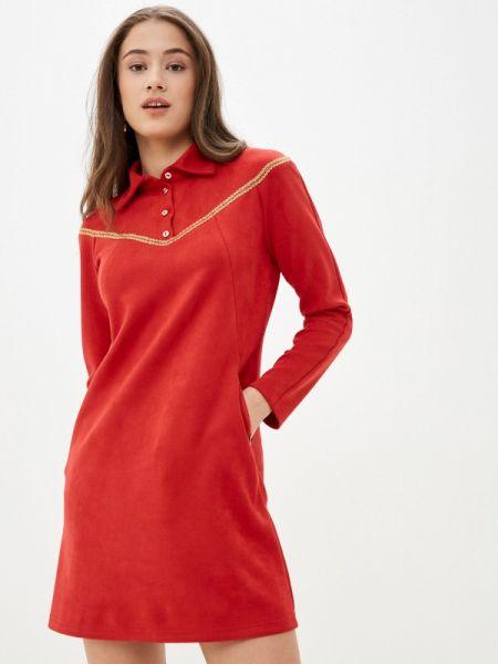 Платье прямое красный Buono