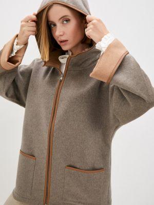 Коричневое итальянское пальто Falconeri