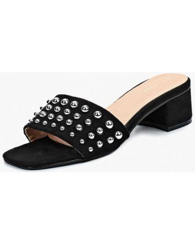 Сабо замшевые фиолетовый Ideal Shoes