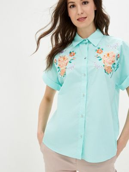 Рубашка - бирюзовая Baon