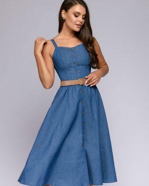 Летний сарафан джинсовый хлопковый 1001 Dress