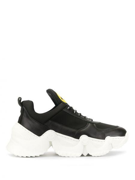 Czarne wysoki sneakersy sznurowane koronkowe Joshua Sanders