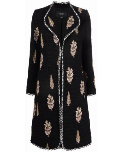 Шерстяное пальто - черное Giambattista Valli