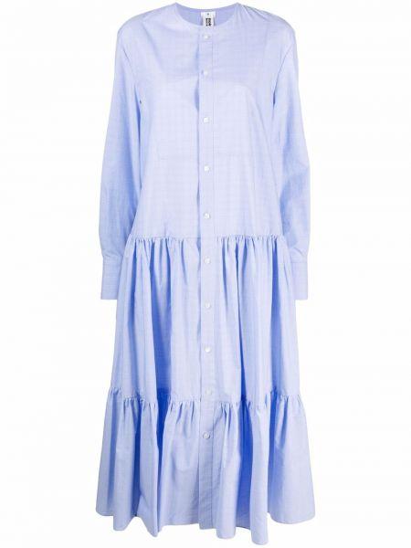 Хлопковое платье миди - синее Comme Des Garçons Noir Kei Ninomiya