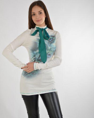 Блузка белая из вискозы Sassofono