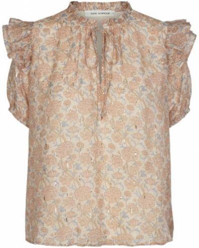 Koszula krótki rękaw - beżowa Sofie Schnoor