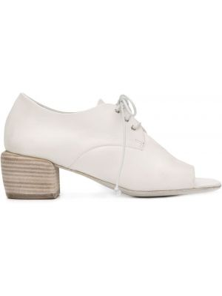 Туфли на каблуке на низком каблуке с открытым носком Marsèll