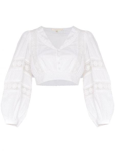 Biała bluzka z haftem bawełniana Loveshackfancy