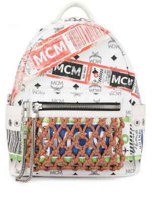 Кожаный рюкзак - белый Mcm