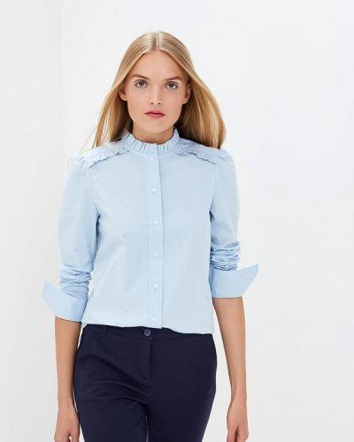 Голубая блузка с длинным рукавом Calvin Klein