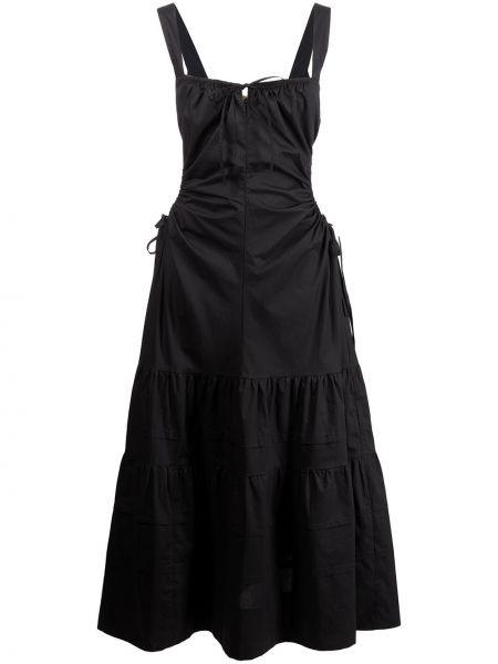 Хлопковое платье миди - черное Nicholas