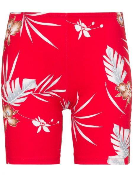 Облегающие красные спортивные шорты Paco Rabanne