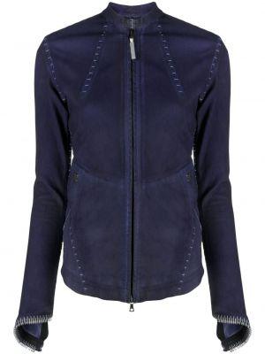 Фиолетовая кожаная куртка на молнии Isaac Sellam Experience