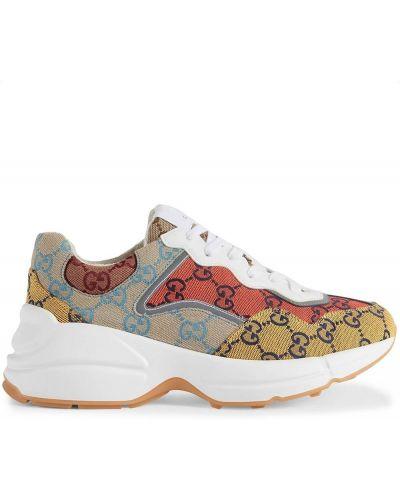 Klasyczne buty sportowe - białe Gucci