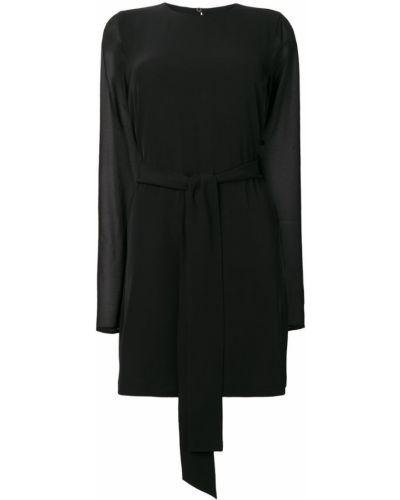 Платье на пуговицах с прозрачными рукавами Blanca