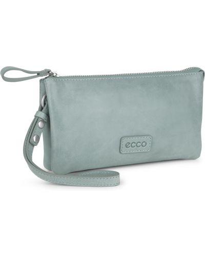 Кожаный кошелек на молнии летний Ecco