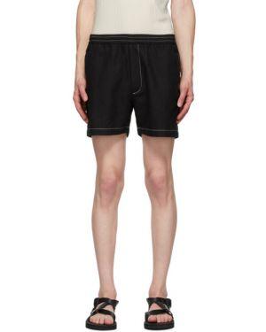 Хлопковые черные короткие шорты на резинке Second/layer