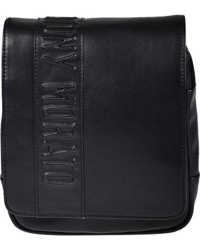 Кожаная сумка на молнии текстильная Antony Morato