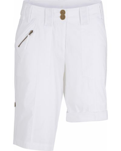 Хлопковые белые шорты с карманами с низкой посадкой Bonprix