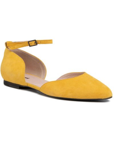 Żółte półbuty Półbuty Gino Rossi