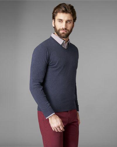 Пуловер кашемировый с V-образным вырезом Henderson