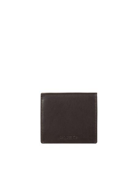 Brązowy portfel skórzany Samsonite