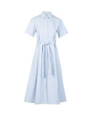 Хлопковое платье - голубое Eleventy