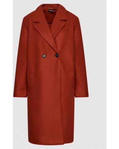 Pomarańczowy płaszcz Vero Moda Curve