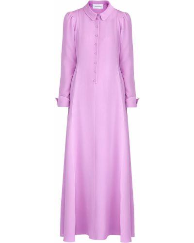 Платье макси на пуговицах с длинными рукавами Valentino