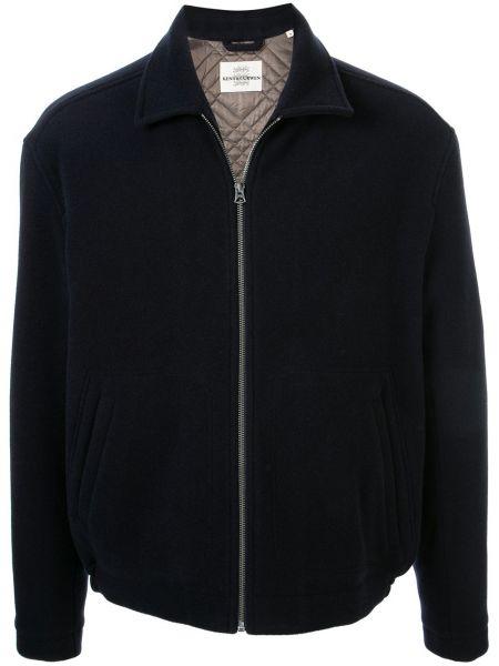Niebieska kurtka pikowana wełniana Kent & Curwen
