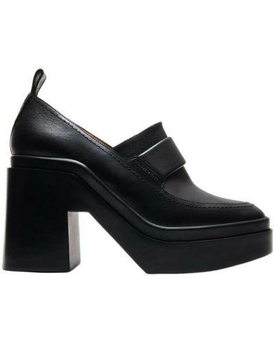 Czarne loafers Clergerie