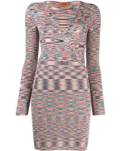 Платье в рубчик с V-образным вырезом Missoni