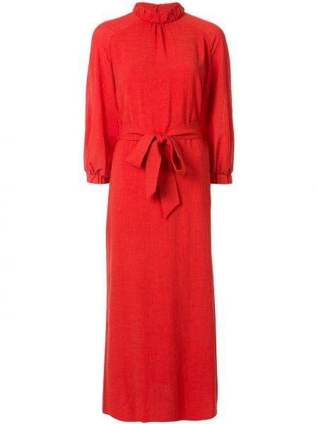 Прямое платье миди с поясом Cefinn