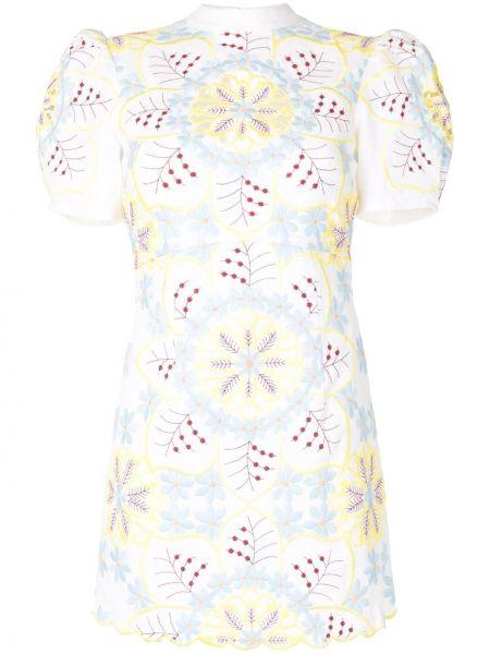 Платье мини с цветочным принтом с воротником Alice Mccall