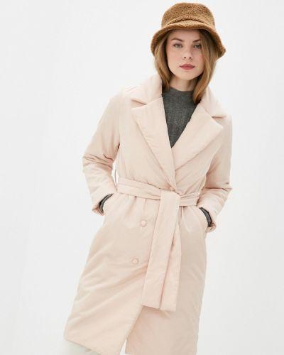 Бежевая утепленная куртка Self Made