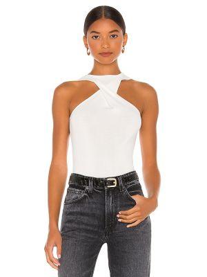 Biała koszulka prążkowana Atoir