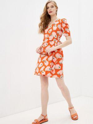 Оранжевое платье с запахом Compania Fantastica