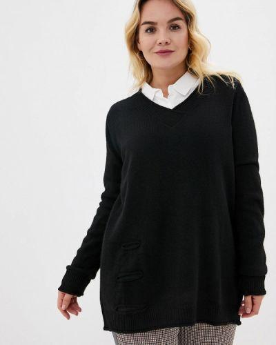 Черный пуловер Over
