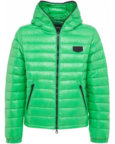 Zielona kurtka z nylonu Duvetica