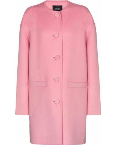 Розовое кашемировое пальто Marc Jacobs