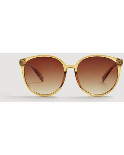Желтые солнцезащитные очки Mango