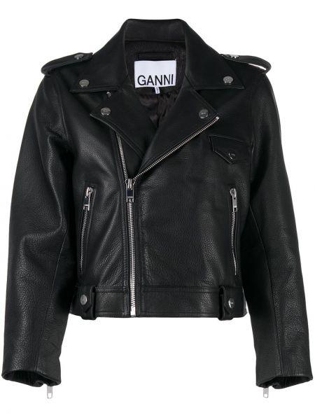 Куртка черная байкерская Ganni