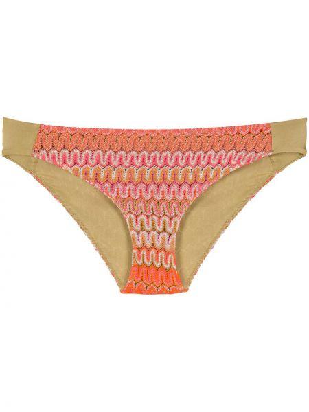 Пляжные оранжевые бикини из вискозы эластичные Mc2 Saint Barth