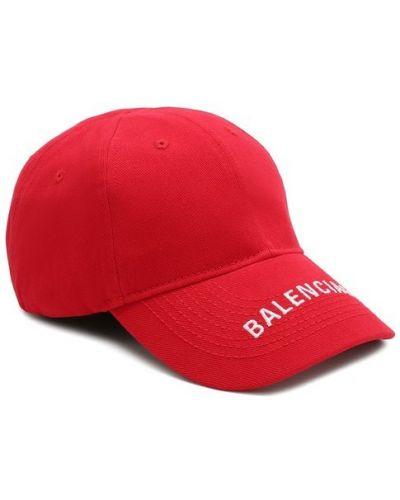 Красная бейсболка с логотипом Balenciaga