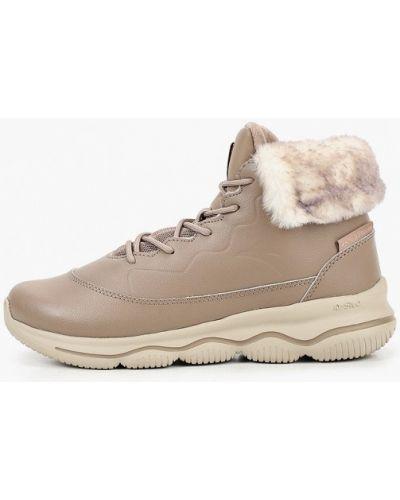 Бежевые кожаные ботинки Anta